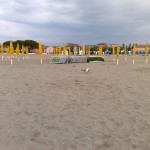 Пляж во время непогоды